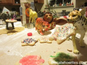 The toys made cookies, and a mess.